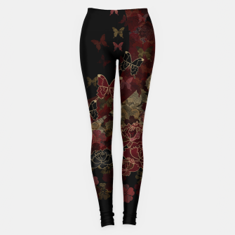 Thumbnail image of Japanesque butterfly and flower Leggings, Live Heroes