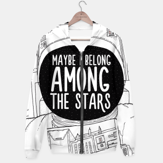Miniatur Maybe I belong Among The Stars Hoodie, Live Heroes