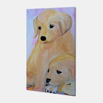 Thumbnail image of  Labrador puppies Canvas, Live Heroes