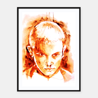 Thumbnail image of Stranger thing 11 coffe painting girl portrait Framed poster, Live Heroes