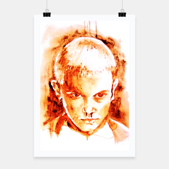 Thumbnail image of Stranger thing 11 coffe painting girl portrait Poster, Live Heroes