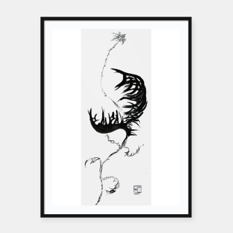 Thumbnail image of Fear monster C calligraphy Yulia A. Korneva Framed poster, Live Heroes