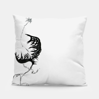Thumbnail image of Fear monster L calligraphy Yulia A. Korneva Pillow, Live Heroes