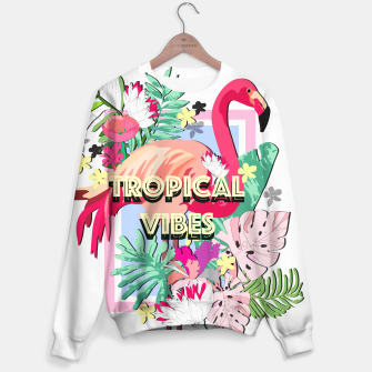 Thumbnail image of Tropical Vibes - Flamingo Sweater, Live Heroes