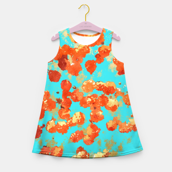 Thumbnail image of Teal Decor Girl's Summer Dress, Live Heroes