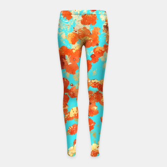 Thumbnail image of Teal Decor Girl's Leggings, Live Heroes