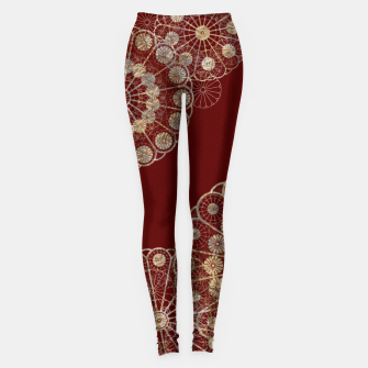 Thumbnail image of Japanese traditional emblem decoration red Leggings, Live Heroes
