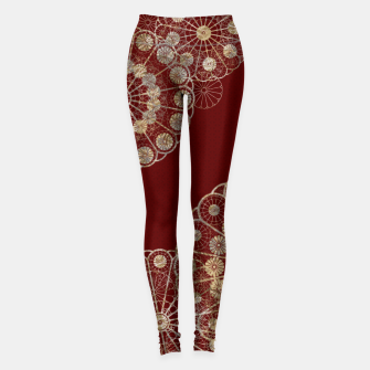 Miniaturka Japanese traditional emblem decoration red Leggings, Live Heroes