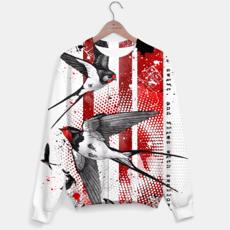 Thumbnail image of wings of a swallow Sweater, Live Heroes