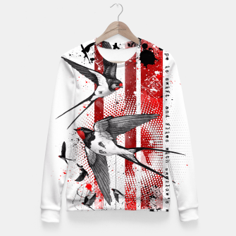 Thumbnail image of wings of a swallow Fitted Waist Sweater, Live Heroes