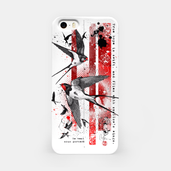 Thumbnail image of wings of a swallow iPhone Case, Live Heroes