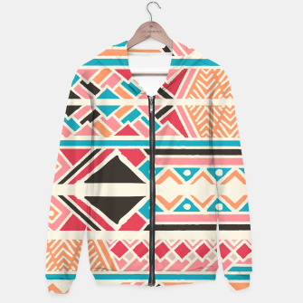 Thumbnail image of Tribal ethnic geometric pattern 037 Hoodie, Live Heroes