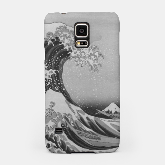 Thumbnail image of Black and White Japanese Great Wave off Kanagawa by Hokusai Samsung Case, Live Heroes