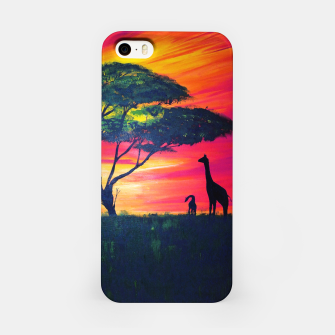 Thumbnail image of Beautiful Africa Giraffe Sunset iPhone Case, Live Heroes