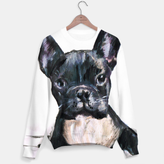 Cute French Bulldog Painting Sweater thumbnail image