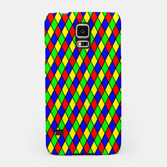 Thumbnail image of Bright Primary Color Harlequin Windowpane Diamond Pattern Samsung Case, Live Heroes