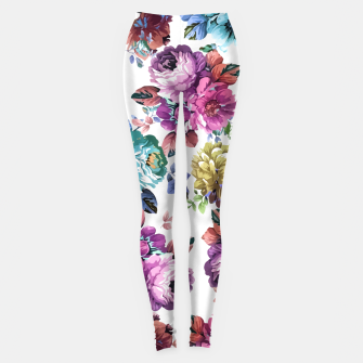 Thumbnail image of Fluorescent Roses Leggings, Live Heroes