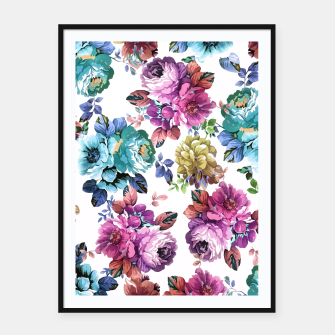 Miniatur Fluorescent Roses Framed poster, Live Heroes