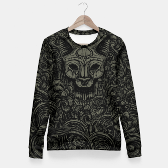 Thumbnail image of Bastet on the field Dark Fitted Waist Sweater, Live Heroes