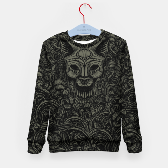 Thumbnail image of Bastet on the field Dark Kid's Sweater, Live Heroes