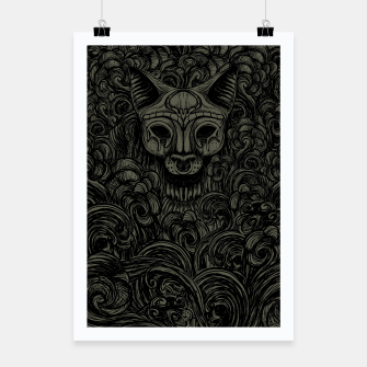 Thumbnail image of Bastet on the field Dark Poster, Live Heroes