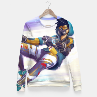 Thumbnail image of Graffiti Shooter Fitted Waist Sweater, Live Heroes