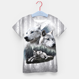 Thumbnail image of White Wolves T-Shirt für Kinder, Live Heroes