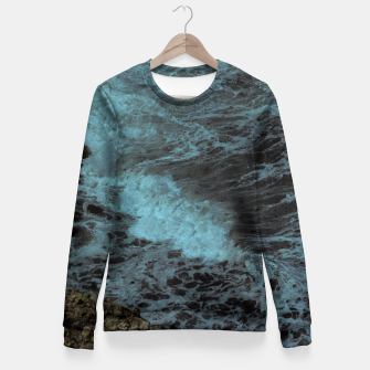 Thumbnail image of Feel the waves Fitted Waist Sweater, Live Heroes