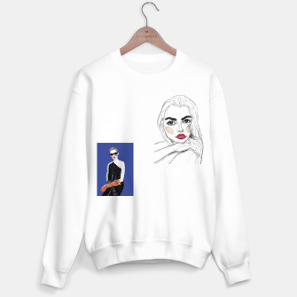 Thumbnail image of Fashion Illustration Collage Sweater regular, Live Heroes
