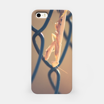 Thumbnail image of the day the praying mantis looked at me and i felt fear iPhone Case, Live Heroes