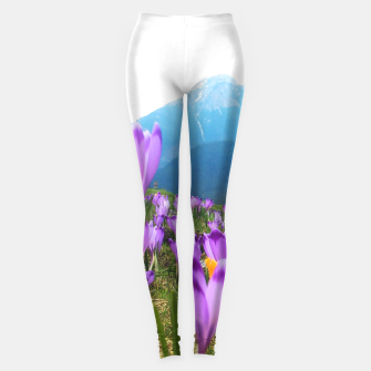 Thumbnail image of Mountain Flower View Leggings, Live Heroes