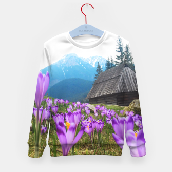 Thumbnail image of Mountain Flower View Kid's Sweater, Live Heroes