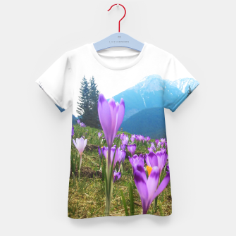 Thumbnail image of Mountain Flower View Kid's T-shirt, Live Heroes