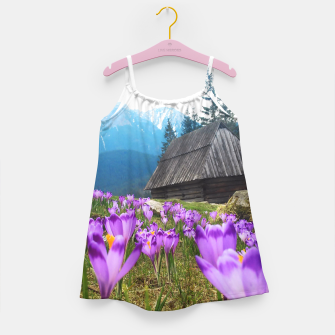 Thumbnail image of Mountain Flower View Girl's Dress, Live Heroes