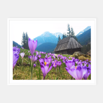 Thumbnail image of Mountain Flower View Framed poster, Live Heroes