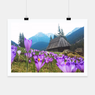 Thumbnail image of Mountain Flower View Poster, Live Heroes