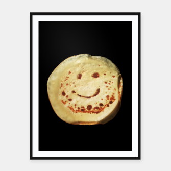 Thumbnail image of Yummy Positive Pancake Framed poster, Live Heroes