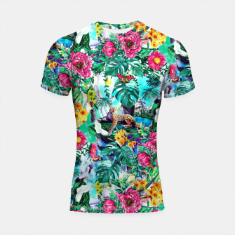 Thumbnail image of Tropical Jungle II Shortsleeve Rashguard, Live Heroes