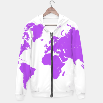 Miniaturka  violet map of the world Bluza z kapturem, Live Heroes