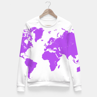 Thumbnail image of  violet map of the world Bluza taliowana, Live Heroes
