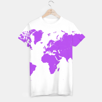 Thumbnail image of  violet map of the world Koszulka, Live Heroes