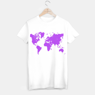 Miniaturka  violet map of the world Koszulka standard, Live Heroes