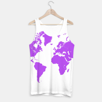 Miniaturka  violet map of the world Tank Top, Live Heroes