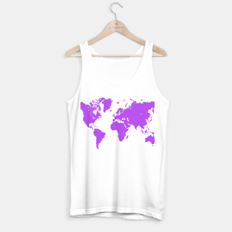Miniaturka  violet map of the world Tank Top standard, Live Heroes