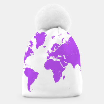 Miniaturka  violet map of the world Czapka, Live Heroes