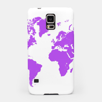 Miniaturka  violet map of the world Obudowa na Samsunga, Live Heroes
