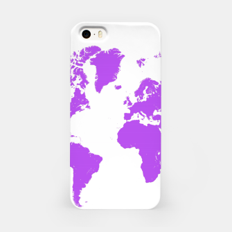 Miniaturka  violet map of the world Obudowa iPhone, Live Heroes