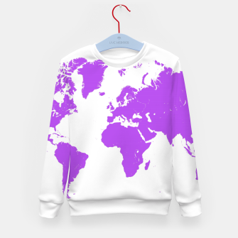 Miniaturka  violet map of the world Bluza dziecięca, Live Heroes