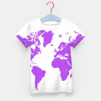 Thumbnail image of  violet map of the world Koszulka Dziecięca, Live Heroes