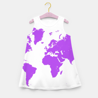 Thumbnail image of  violet map of the world Sukienka dziewczęca letnia, Live Heroes